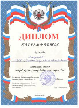 Диплом, 2014 год