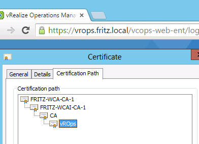 Using the VMCA to sign vRealize Operations Manager 6.2.x