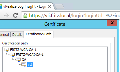 Using the VMCA to sign vRealize Log Insight 3.x