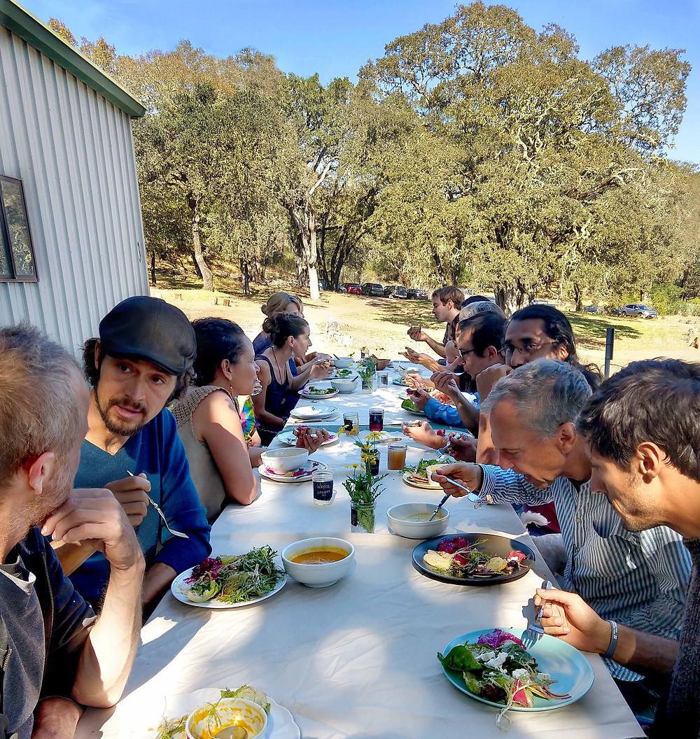 Lunch al fresco at Aletheia Springs