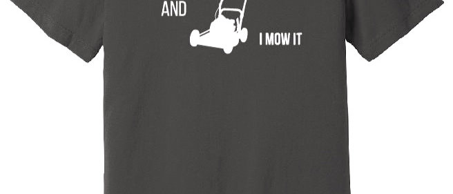 Sexy and I Mow It Tee Black