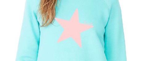 Star Wide Neck Sweatshirt