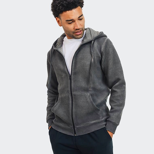Men's Textured Hoodie Jacket