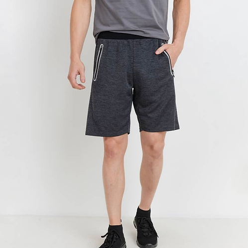 Mens Tech  Shorts with Zippered Pockets