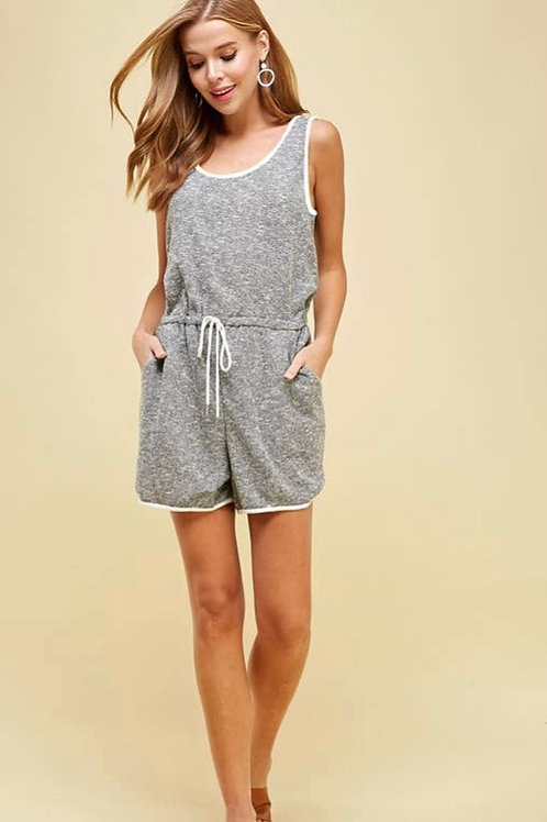 Jersey Romper with Pockets