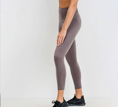 Performance Leggings with Perforated Panel