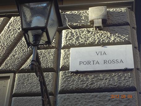 店名の由来、ポルタロッサ 通り