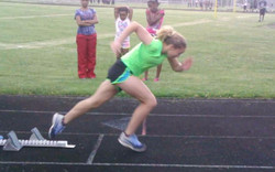 Breana Pushing to the Post