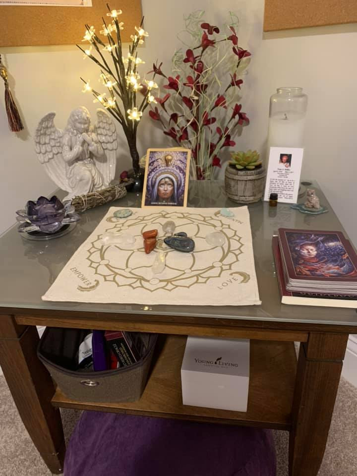 sacred space, spiritual journey, setting intentions, meditation