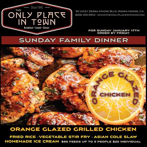 Sunday Individual Dinner Orange Chicken