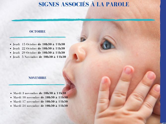 Atelier bébé signes à Metz, la cabane de