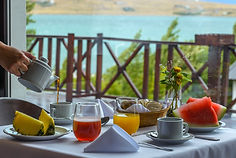 desayuno con vista parcial al lago