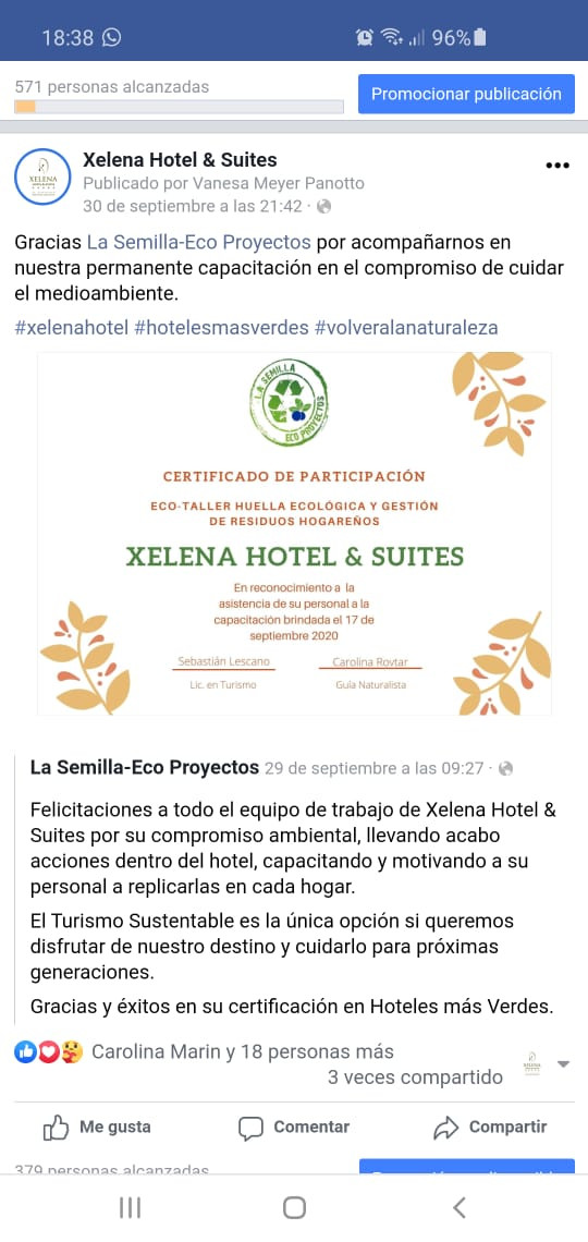 Certificado de participación La Semilla-Eco Proyectos
