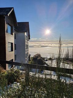 Vista al lago Argentino hotel xelena