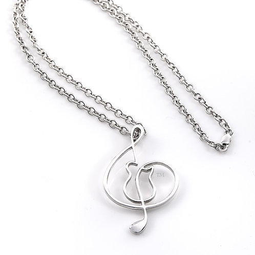"""Sterling Silver 2"""" pedant/large chain"""