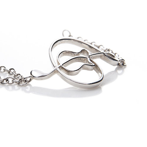 """Sterling Silver 2"""" curved chain bracelet"""