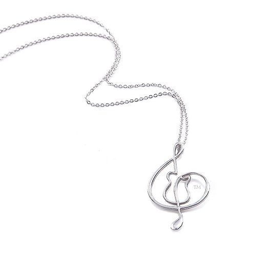 "Sterling Silver 1.5"" pendant/link chain"