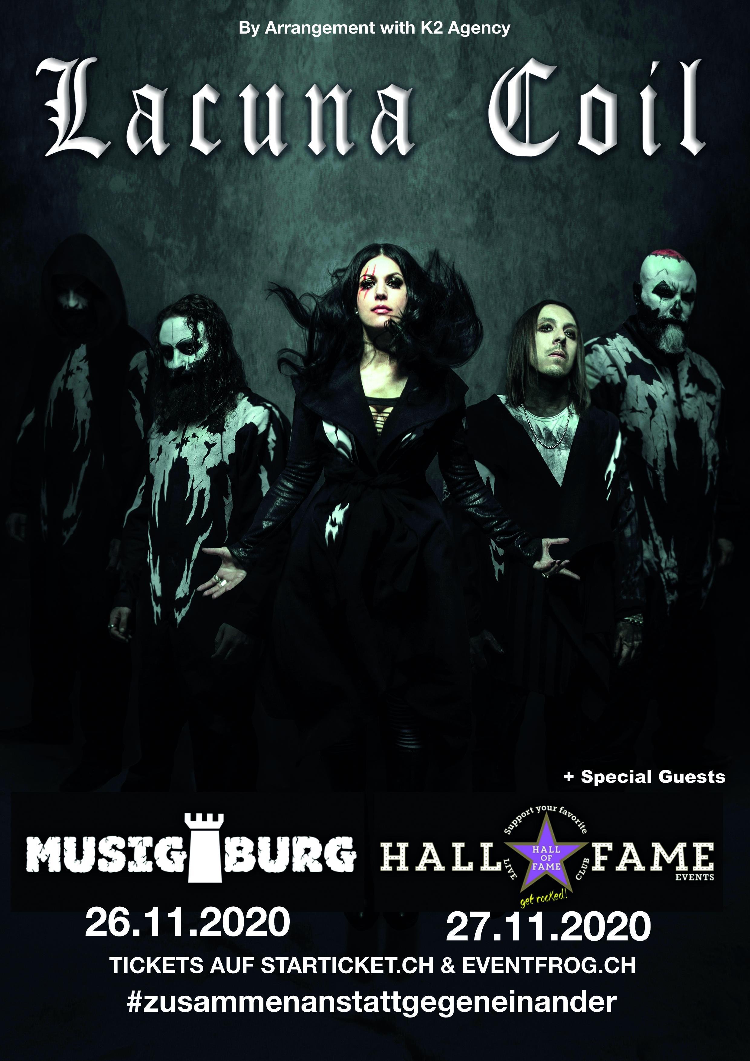 Poster Lacuna Coil 2020