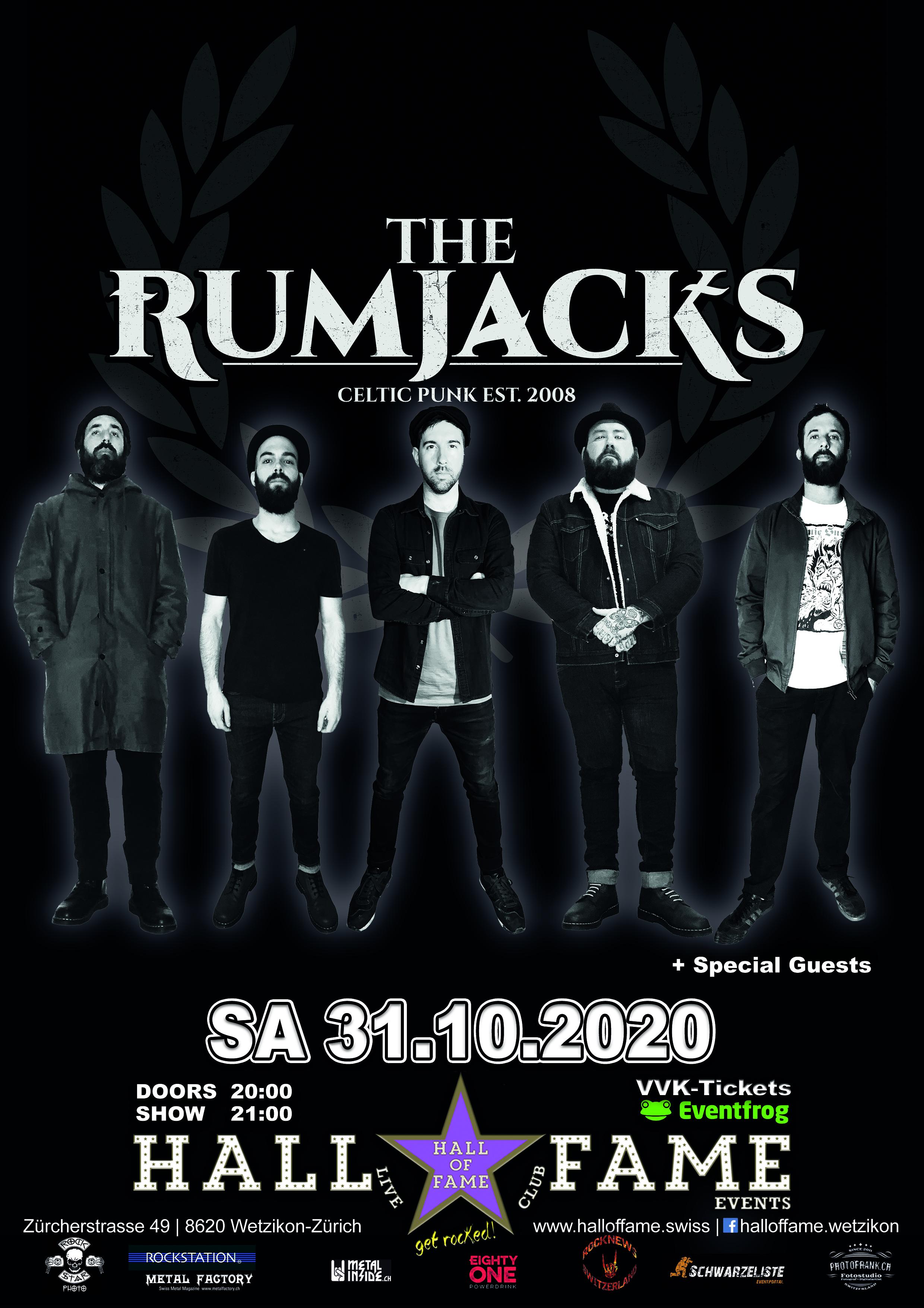 Poster The Rumjacks 2020