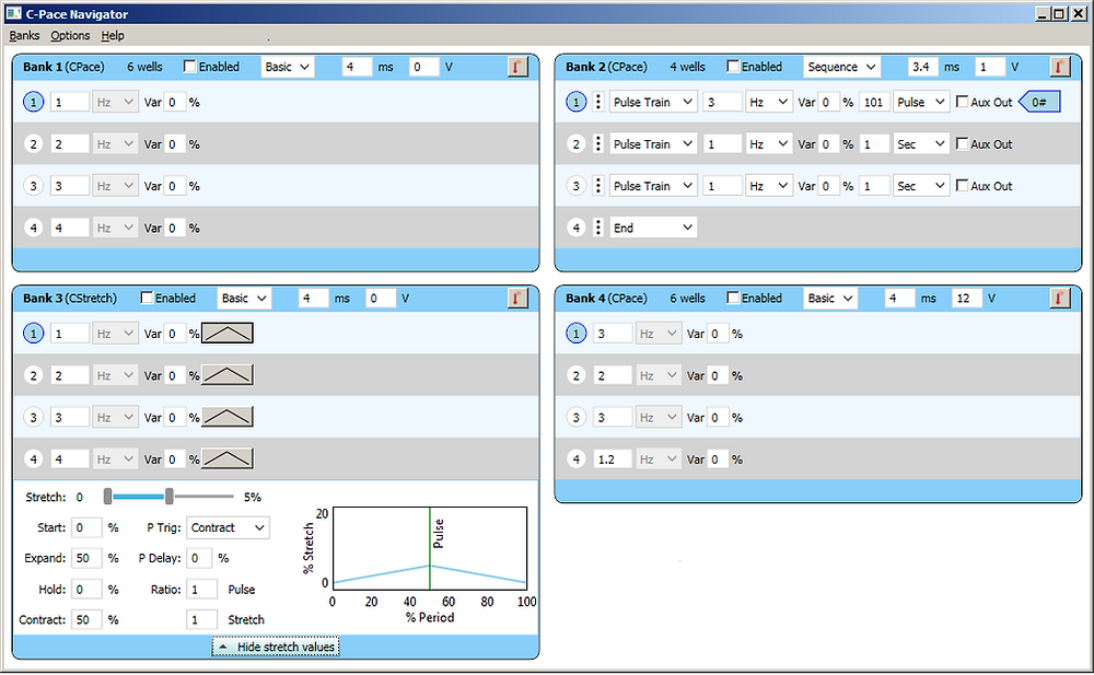 C-Paceナビゲーターソフトウェアで刺激プロトコルを簡単にコントロール
