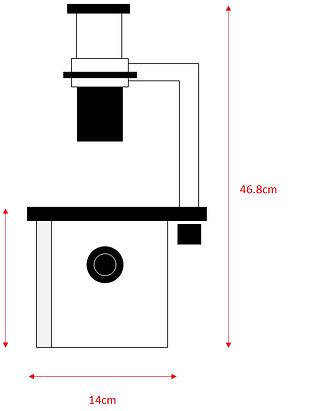 蛍光顕微鏡の奥行きサイズ
