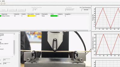 3点曲げ試験機 - UniVert ソフトウェア