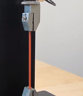 引張強度測定に用いられるサンプル