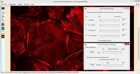蛍光顕微鏡 - ソフトウェア