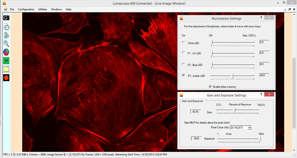 蛍光顕微鏡ソフトウェア-lumaview
