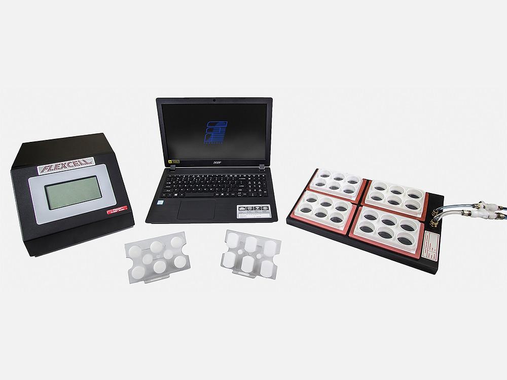 マイクロプロセッサ制御の真空圧駆動伸展刺激培養装置