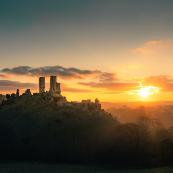 Corfe Castle Sunrise