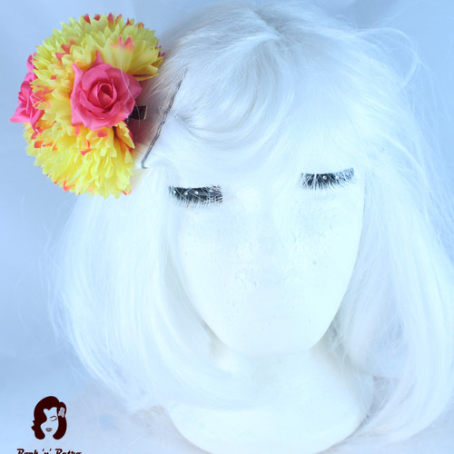Rock n retrojewellery and accessoriesyellow hair flowers mightylinksfo
