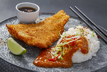 katsu curry with rice photograph by neil langan