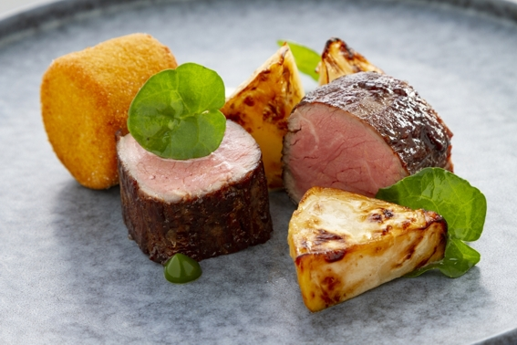 pork loin plated meal by food photographer neil langan