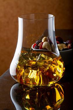 whiskey in premium glass
