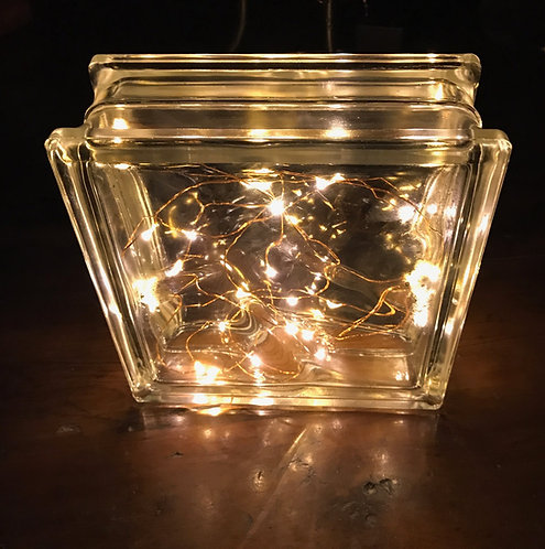 Glass Block with LED light