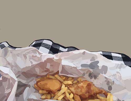 Fish and Chips on Photo Block