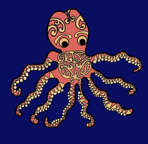 Giant Squid with māori motif