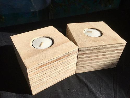 Layered Wood Candle