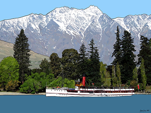 Earnslaw (Queenstown) on Canvas