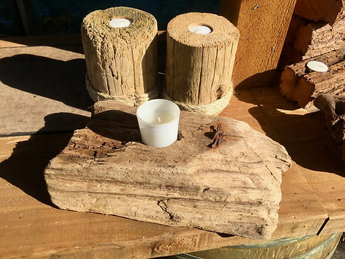 Recycled wooden candles