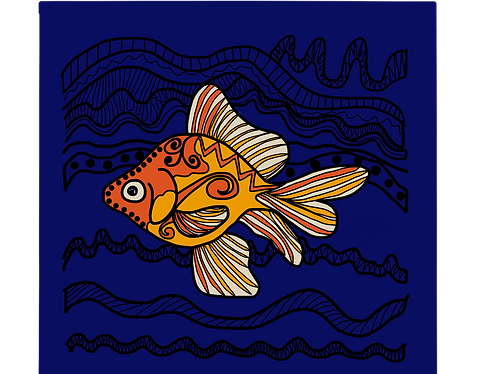 Fish with māori motif