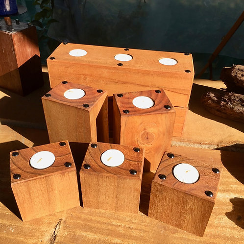Decorated Tea Light wooden candles