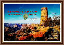 Desert View Watchtower Retro Future Poster