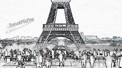 Trocadero Crowd Sketch