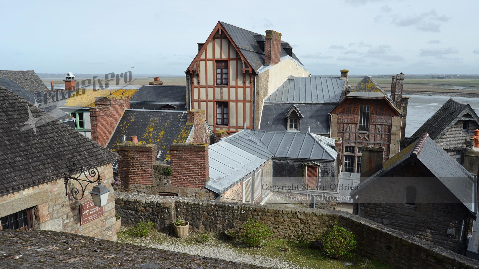 Mont Saint Michel Village Rooftops