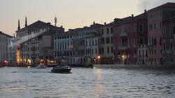 Night Falls on Venice Grand Canal