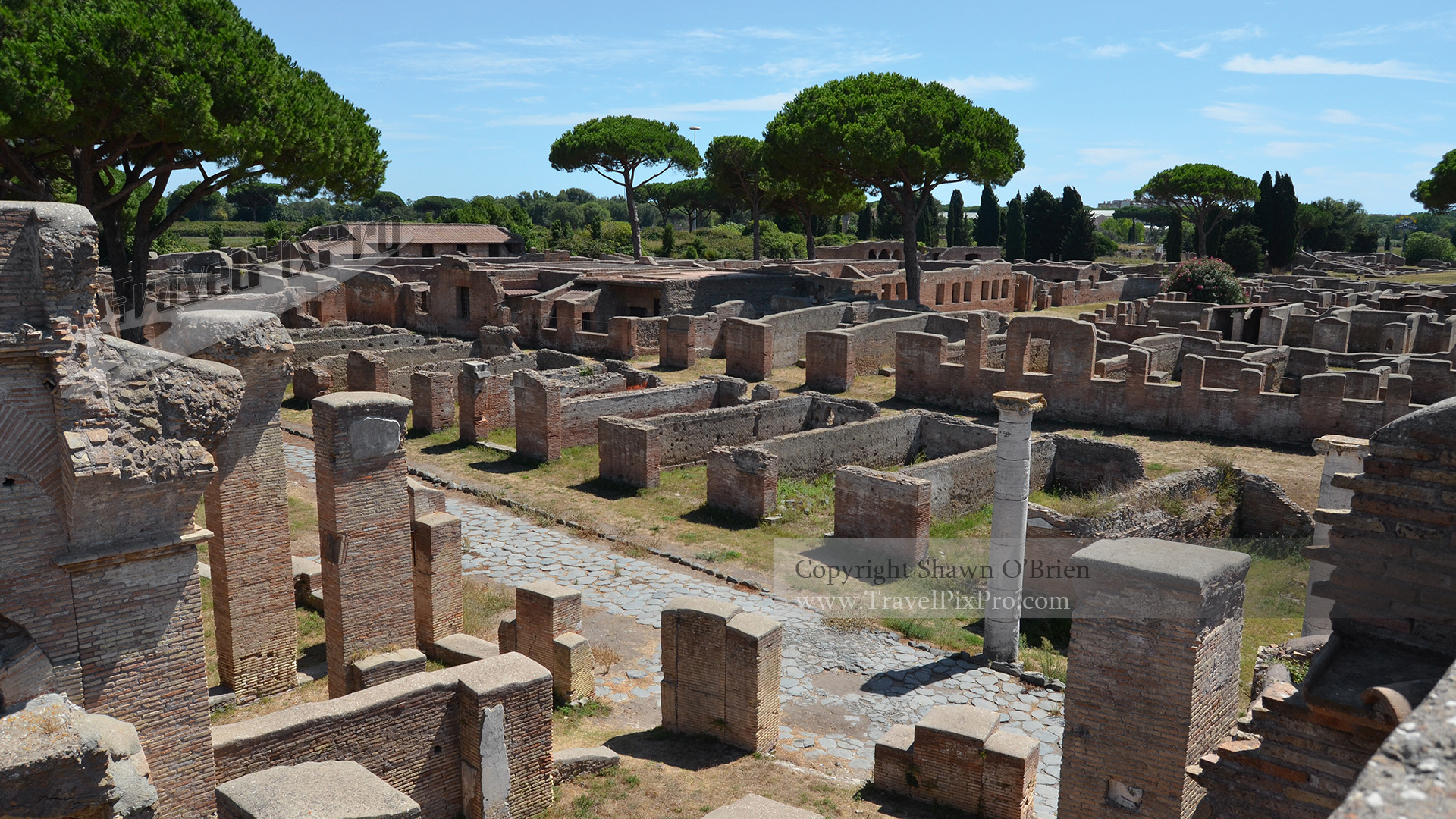 Ostia Antica City View