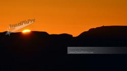 Desert Watchtower Sunrise Silhouette