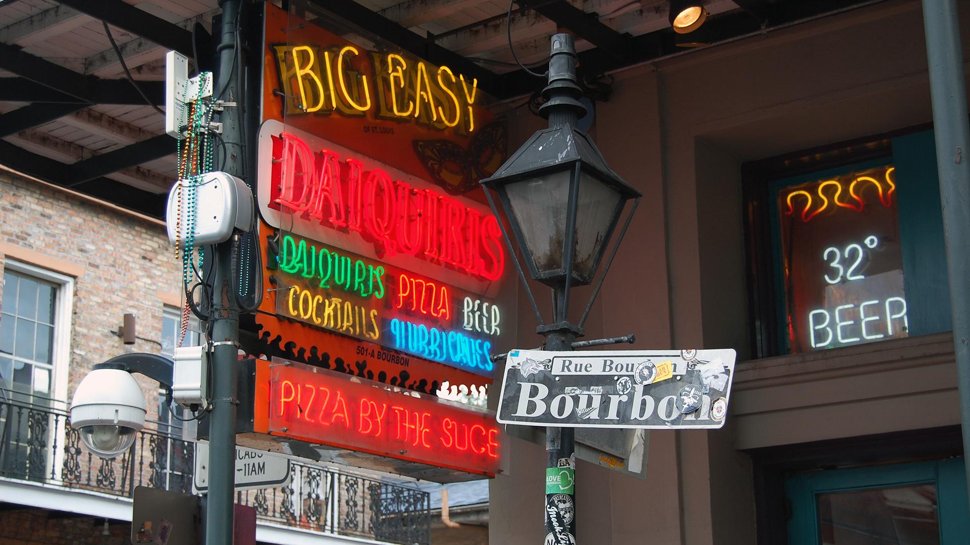 Big Easy Neon on Bourbon
